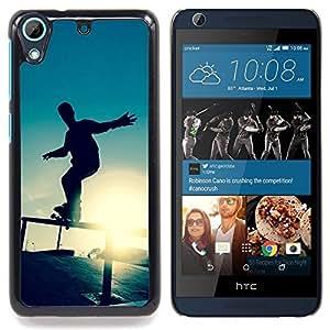 "Qstar Arte & diseño plástico duro Fundas Cover Cubre Hard Case Cover para HTC Desire 626 (Skate Sunset"")"