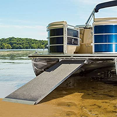 """Harbor Mate –Pontoon Boat Ramp – 600 lb. Capacity – Lightest Weight, Highest Capacity Ramp in The Industry – Rust-Resistant Aluminum – Universal Mounting Brackets – PBR6 –Measures 6' L x 24"""" W"""