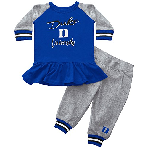 [Blue Devils Girl Team Dress with Joggers, 3-6M] (Devil Girl Outfit)