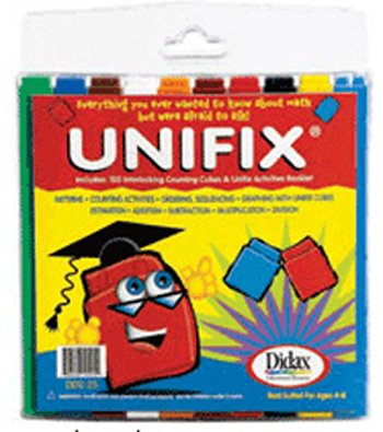 6 Pack DIDAX UNIFIX CUBES 100 ASST COLORS