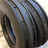 (2 TIRES + 2 TUBES) 6.00-16 8 PLY ROAD WARRIOR NDR ST-1-OZKA KNK-35 F2 3-Rib Farm Tractor Tire 6.00x16