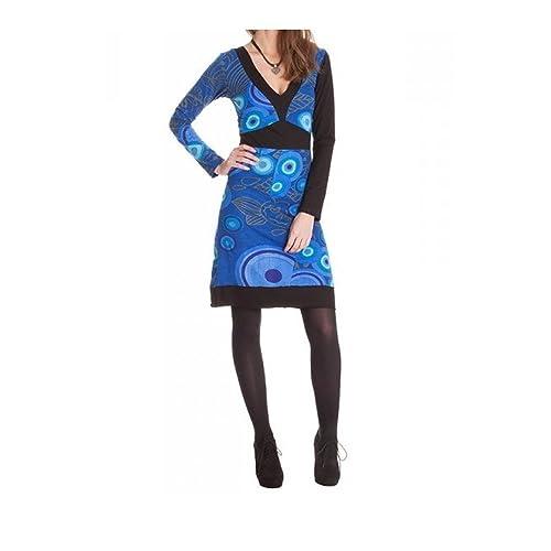 cargo shop -  Vestito  - Maniche lunghe  - Donna blu 44