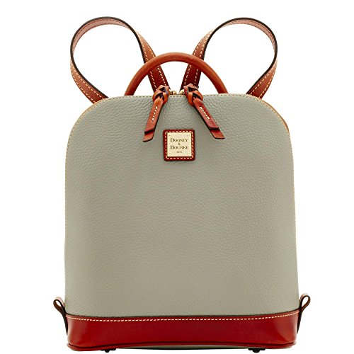 Dooney & Bourke Pebble Grain Zip Pod Backpack (Smoke) (Smoke Pebble)