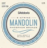 D\'Addario EJ73 Phosphor Bronze Mandolin Strings, Light, 10-38