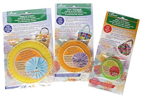 Clover Small, Large and Extra Large Round Yo-Yo Maker / Set of 3 Yo Yo Makers. Easy to use. Small, Large, Extra Large. .