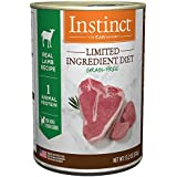 Instinct Limited Ingredient Diet Grain Free Real Lamb Recipe Natural Wet Canned Dog Food by Nature's Variety, 13.2 oz. Cans (Case of 6)