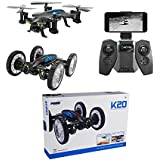 Littleice K20 RC Quadcopter W/ HD Camera Remote Control Flying Car Drone WiFi FPV Helicopter Toy for Kids