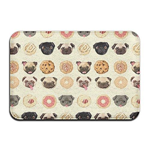 Pugs Donuts Cookies Humor Door Mats Indoor Bathroom Kitchen Decor Mat Welcome Doormat (Cookie Diaper)