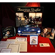 AMERICAN GRAFFITI 10 CAST Autographs, UACC DVD COA, Frame, Light-up MUSTANG Display