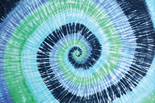 Blue Green Spiral Tie-Dye Tapestry Hanging Wall Art - Great for Apartments, Dorms, Homes, and - Tapestries Dye Wall Tie