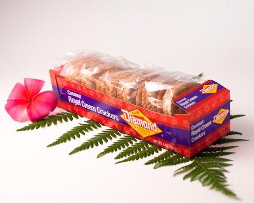 Diamond Bakery Coconut Royal Creem Crackers Tray (8oz)