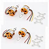 Uptell 4pcs A2212 1000KV Brushless Outrunner Motor for RC Airplane Aircraft