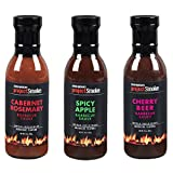 3 beer bbq rub - Steven Raichlen Project Smoke BBQ Barbecue Sauce Combo Gift Pack- 3 Pack Summer Grilling Barbeque Set
