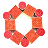 #2: Hraindrop 12PCS Wooden Stamps, Floral Pattern Rubber Stamp for for DIY Craft Card and Scrapbooking Designs
