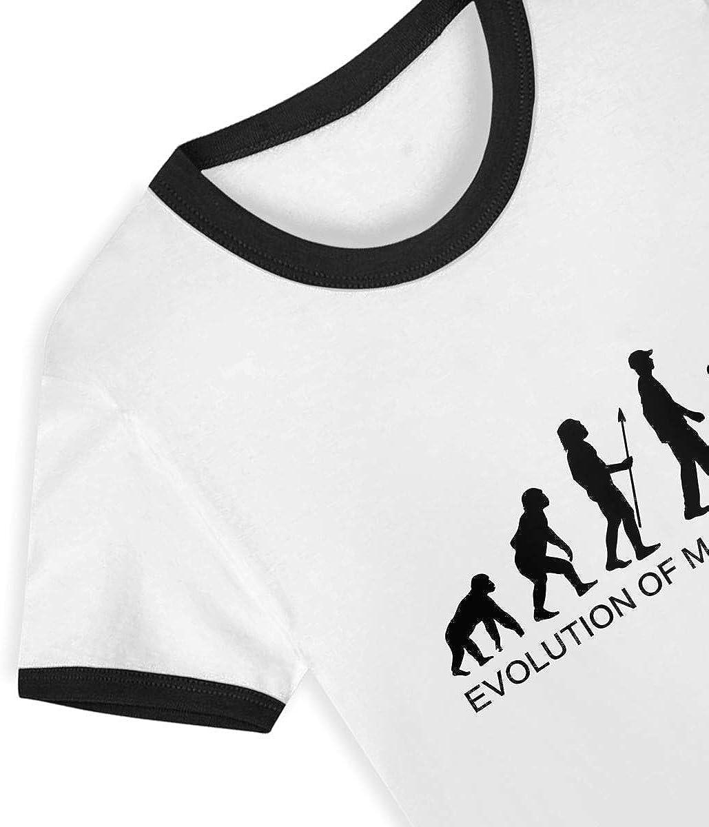 CY SHOP Evolution of Man Computer Childrens Boys Girls Contrast Short Sleeve T-Shirt
