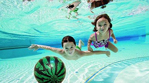 [Pool Game Set - Watermelon Beach Ball with Air Pump and Needle Kit (9 inch, Watermelon)] (Watermelon Ball)