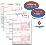 2018 Laser Tax Forms - 1099-MISC Income (4-Part Set) for 25 Individuals - Park Forms