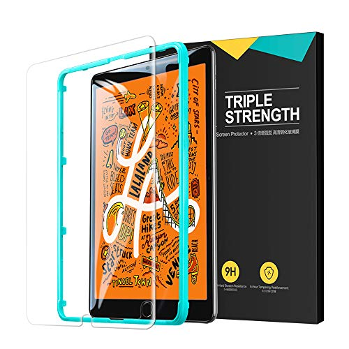 ESR Glass Screen Protector for iPad Mini 5 (2019) / iPad Mini 4, Premium Tempered Glass HD Clear, 9H Hardness Scratch-Resistant, Bubble Free, Installation Frame Included, 1-Pack