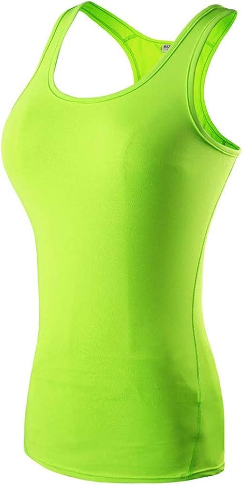 Aniywn Women's Dry Fit Tank Tops Running Workout Fitness Yoga T-Shirt Sleeveless Racerback Athletic Vest Shirt