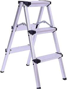 Jia He Taburete de plástico para niños Escalera doméstica Taburete con peldaños Aleación de Aluminio Escalera de Dos Lados Escalera de Tres escalones con Pedal de Tres Lados: Amazon.es: Hogar