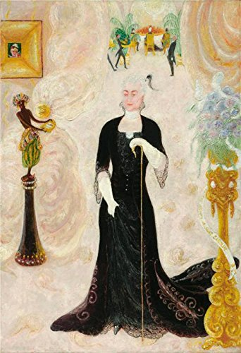 [High Quality Polyster Canvas ,the High Definition Art Decorative Prints On Canvas Of Oil Painting 'Florine Stettheimer,Portrait Of My Aunt, Caroline Walter Neustadter,1928', 20x29 Inch / 51x74 Cm Is Best For Home Theater Decor And Home Decor And Gifts] (Stock Coconut Shell Necklaces)
