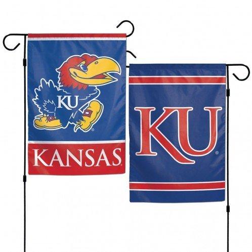 Ncaa Outdoor Garden Flag (NCAA University of Kansas 12x18 Inch 2-Sided Outdoor Garden Flag Banner)