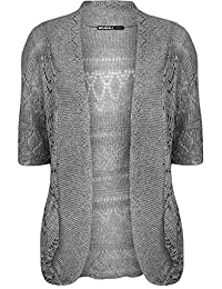 Plus Size Womens Crochet Knitted Shrug Top