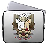 Unique Laptop Sleeve 10 Inch Small Size Kawaii Kitty Phantom Computer Case Soft Neoprene Water Resistance Computer Case for Laptop 10' Lenovo HP Sony Toshiba Powerbook