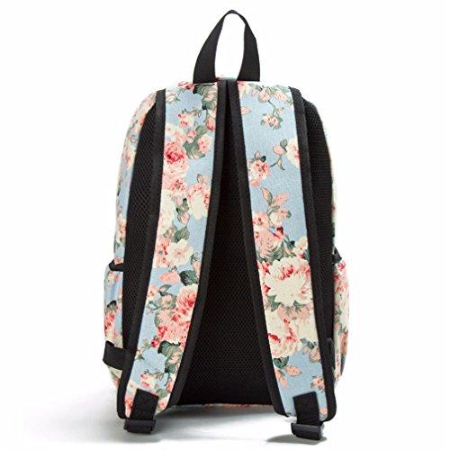 Impression À Les Dos Sac Voyage Dos Sac Femmes Sac Dos À Toile Dos À Femelle Pour Sacs D'école Style Filles 1037c Bookbags Floral Sac À qX6zg