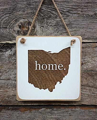Ohio Home Ornament - Ohio Decor - Ohio Gift (small keepsake 4 inches by 4 inches in size)
