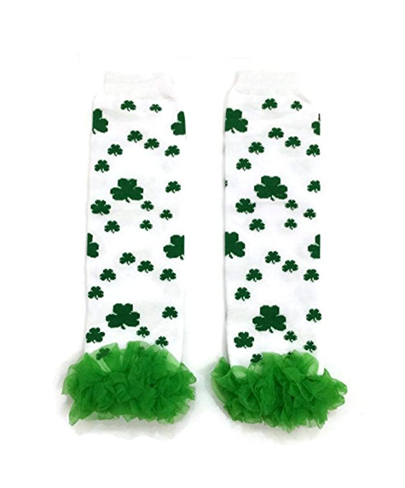SHAMROCKS RUFFLES ST PATRICKS DAY-Baby Toddler Leg Warmer//Leggies//Leggings