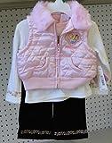 Disney Princess Infant Girl 3pc Set 18 Month. Pink White Back Vest, Shirt, Pant