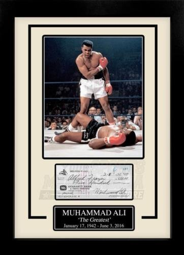 - Muhammad Ali Facsimile Signed Autographed Personal Check Framed 8x10 Display