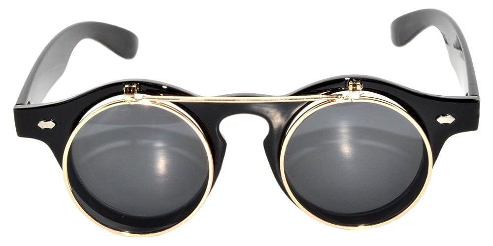 Amazon.com: Retro Steampunk Círculo Flip Up anteojos de sol ...