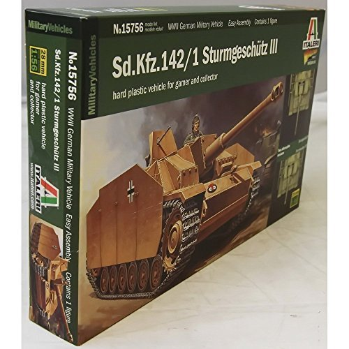 (ITALERI 15756 1/56 Sd.Kfz.142 Sturmgeschutz III Tank (Wargames) by Italeri)
