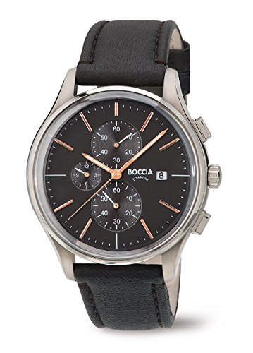 3756-02 Boccia Titanium Mens Chronograph Watch