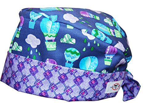 Nursing Scrub Hats (MedCap Scrub Hat Duet Scrub Hat Up Up and Away Lavender Blues)