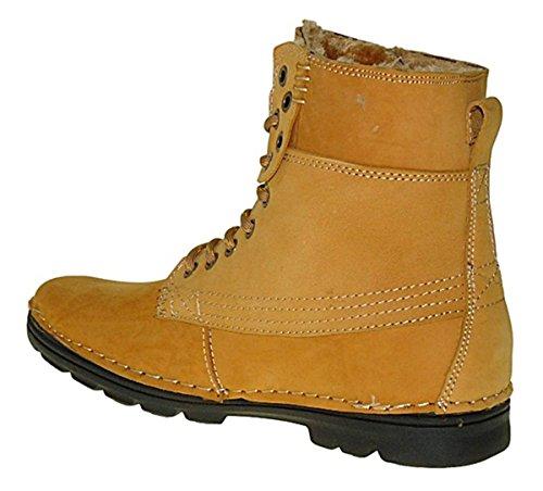 501 Arte De Sapatos Botas Botas Inverno De Homens Couro Homens Camelo De Genuína Inverno Botas darqOa
