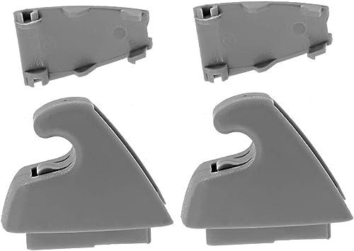 2PCS Sun Visor Support Clip For 07-13 Chevy Silverado Tahoe GMC Sierra Dark Gray