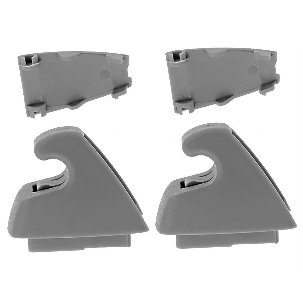 DSparts Pack of 2 Gray Right or Left Sun Visor Retainer Support Clip For 07-13 Chevy Silverado Tahoe GMC Sierra Yukon