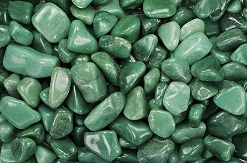 1 lb Tumbled Green Aventurine AA Grade Stones from Brazil - Large 1