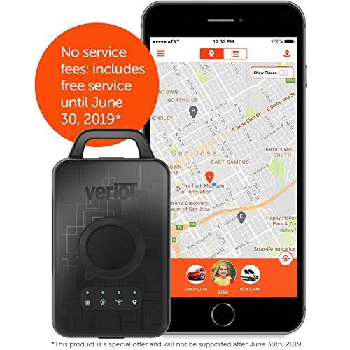 Veriot Venture Smart GPS Tracking Device. PRE-PAID, NO ADDITIONAL FEES! Full coverage and tracking through June 2019. Best Kids, Valuables, Fleets. AT&T 3G. (1 Pack)