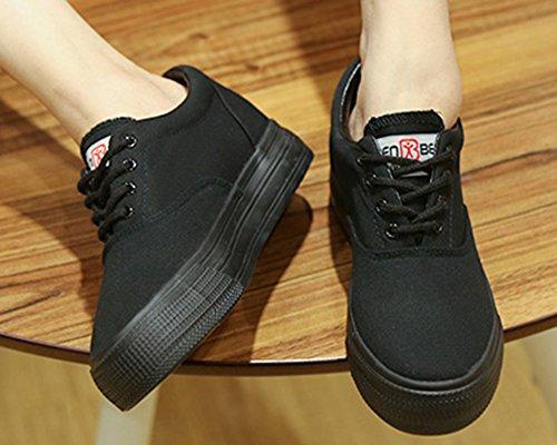 Mode Basse Unie Couleur Aisun Sneakers Femme SqIwZU