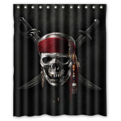 Pirate WaterProof Fabric Shower Curtain