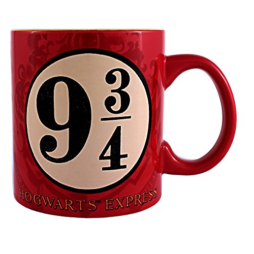 (Silver Buffalo HP0934 Harry Potter and the Sorcerer's Stone Platform 9 and 3/4 Jumbo Ceramic Mug, 20-Ounces)