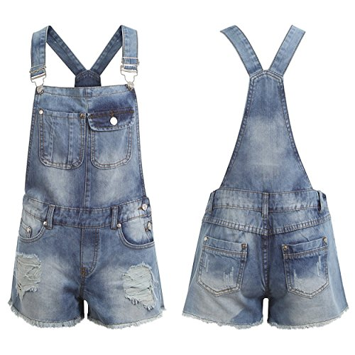 Juicy Trendz Mujeres Mezclilla Jeans dungaree Señoras Jumpsuit playsuit Niña BLUE-DUNGAREE-F7473