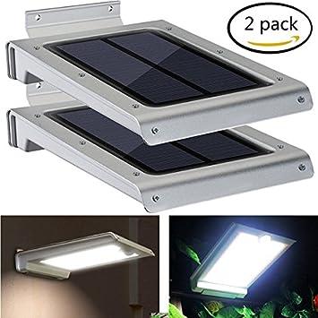Easternstar Lámpara Solar LED de Pared Foco 64 LED, Luz Solar Aplique de Exterior con