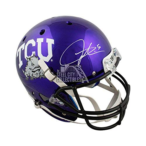 Ladainian Tomlinson Autographed TCU Chrome Full-Size Football Helmet - BAS COA - Beckett Authentication ()