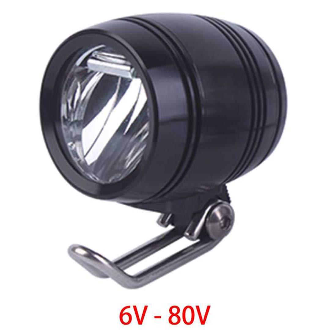 HEALTHLL 6V - 80V 12V 24V 36V 48V 60V 72V Universal E-Bike Headlight Taillight Horn Set Front Light Headlamp Rear Light Taillamp 3W 100LUX by HEALTHLL