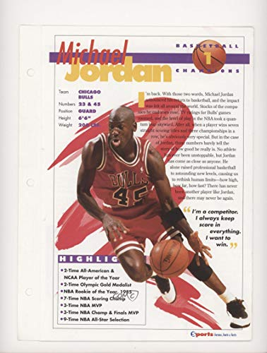 Michael Jordan (Trading Card) 1994 Sports Heroes Feats & Facts - [Base] #1.3 (Card Feat)